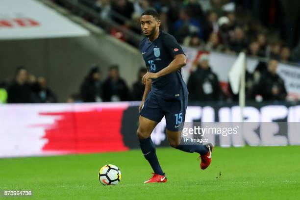 Joe Gomez of England controls the ball during the international friendly match between England and Germany at Wembley Stadium on November 10 2017 in...