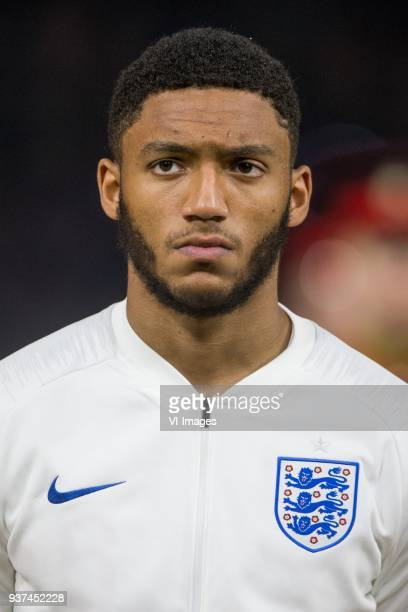 Joe Gomez of England during the International friendly match match between The Netherlands and England at the Amsterdam Arena on March 23 2018 in...