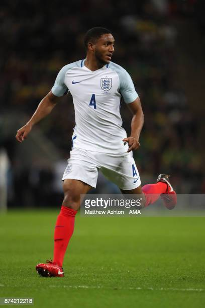 Joe Gomez of England in action during the international friendly match between England and Brazil at Wembley Stadium on November 14 2017 in London...
