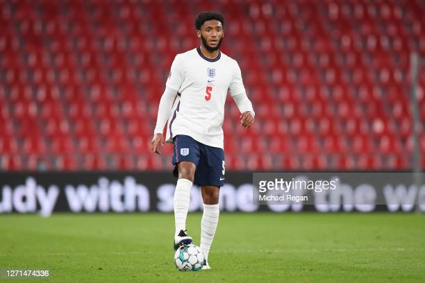 Joe Gomez of England in action during the UEFA Nations League group stage match between Denmark and England at Parken Stadium on September 08, 2020...