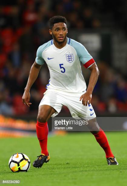 Joe Gomez of England in action during the UEFA Under 21 Championship Qualifiers between England and Latvia at the Vitality Stadium on September 5...