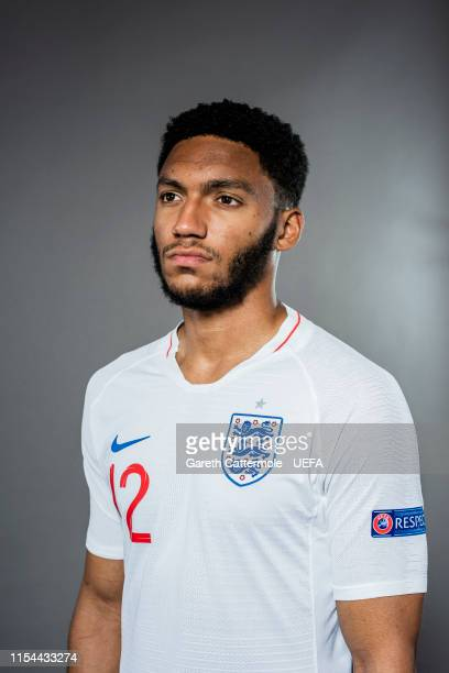 Joe Gomez of England poses for a portrait at St Georges Park on June 04 2019 in BurtonuponTrent England