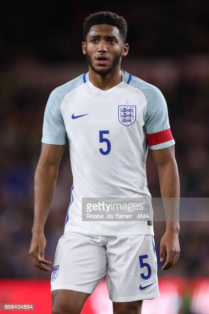 Joe Gomez of England U21 during the UEFA European Under 21 Championship Qualifiers fixture between England U21 and Scotland U21 at Riverside Stadium...