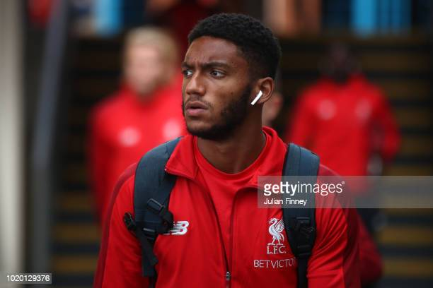 Joe Gomez of Liverpool arrives during the Premier League match between Crystal Palace and Liverpool FC at Selhurst Park on August 20 2018 in London...