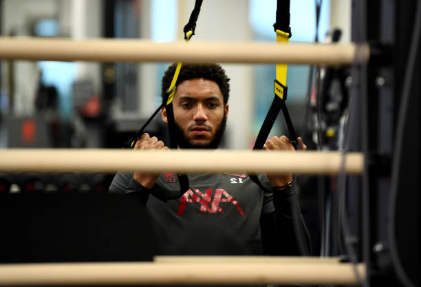 GBR: Joe Gomez Does Recovery Training at Liverpool