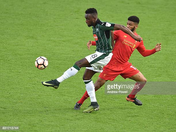 Joe Gomez of Liverpool during the Emirates FA Cup Third Round match between Liverpool and Plymouth Argyle at Anfield on January 8 2017 in Liverpool...