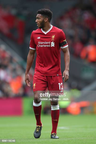 Joe Gomez of Liverpool during the Premier League match between Liverpool and Crystal Palace at Anfield on August 19 2017 in Liverpool England