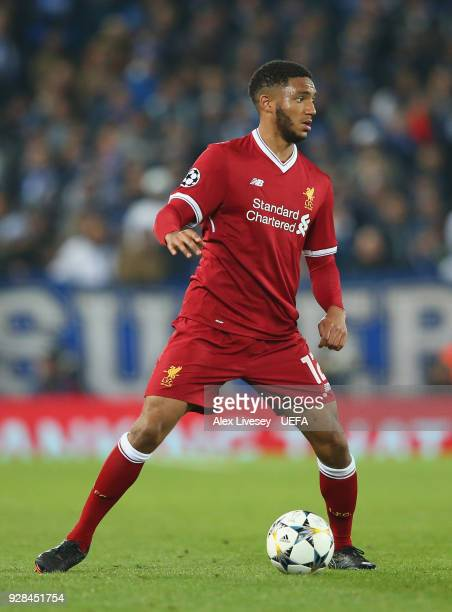 Joe Gomez of Liverpool during the UEFA Champions League Round of 16 Second Leg match between Liverpool and FC Porto at Anfield on March 6 2018 in...