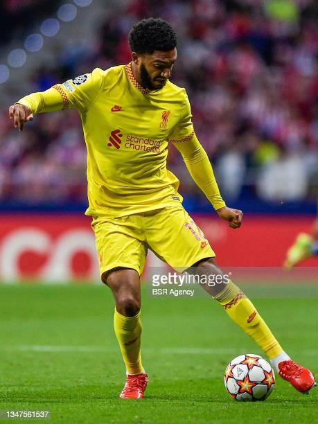 Joe Gomez of Liverpool FC during the Group B - UEFA Champions League match between Club Atletico de Madrid and Liverpool FC at Estadio Metropolitano...