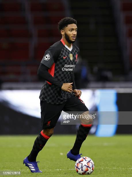 AMSTERDAM Joe Gomez of Liverpool FC during the UEFA Champions League match in group D between Ajax Amsterdam and Liverpool FC at the Johan Cruijff...