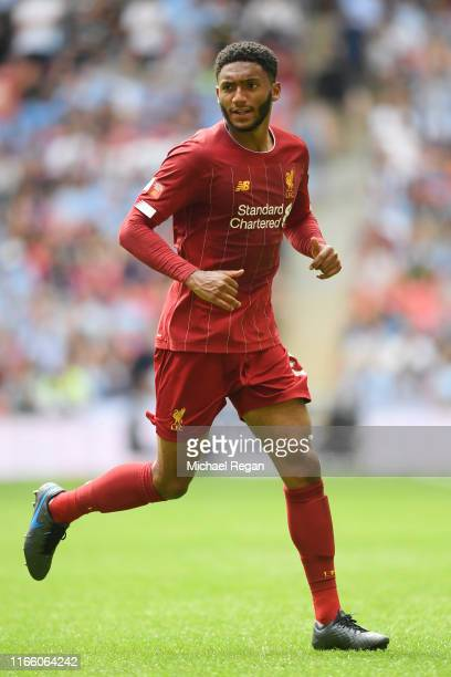 Joe Gomez of Liverpool in action during the FA Community Shield between Liverpool and Manchester City at Wembley Stadium on August 04 2019 in London...