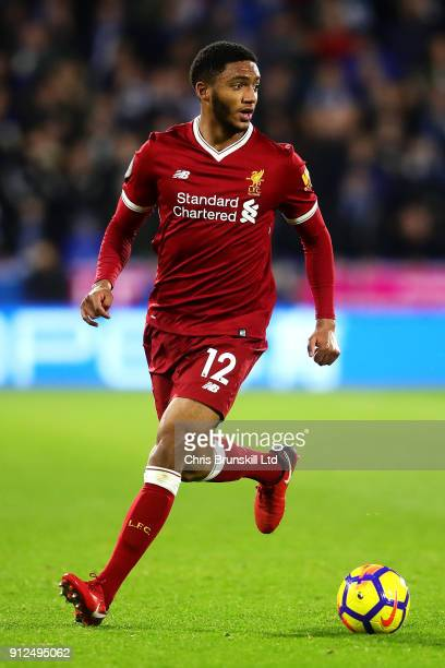 Joe Gomez of Liverpool in action during the Premier League match between Huddersfield Town and Liverpool at John Smith's Stadium on January 30 2018...