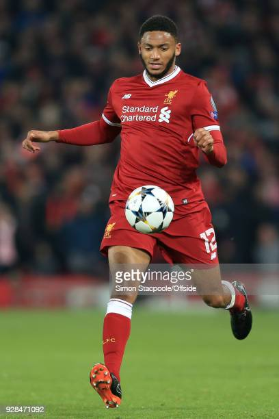 Joe Gomez of Liverpool in action during the UEFA Champions League Round of 16 Second Leg match between Liverpool and FC Porto at Anfield on March 6...