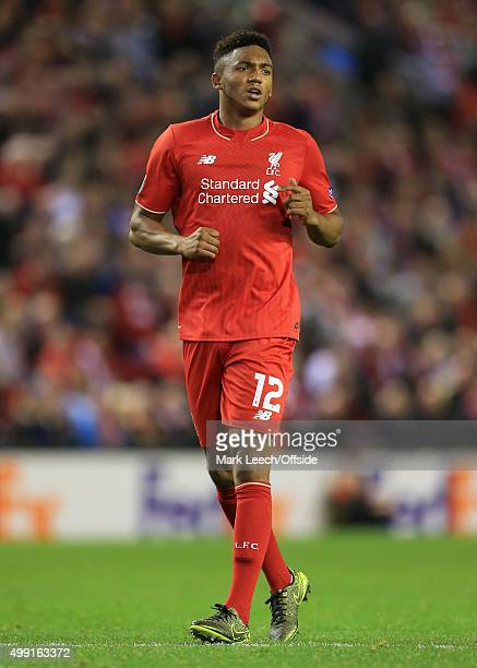 Joe Gomez of Liverpool in action during the UEFA Europa League Group B match between Liverpool and FC Sion on October 1 2015 in Liverpool England