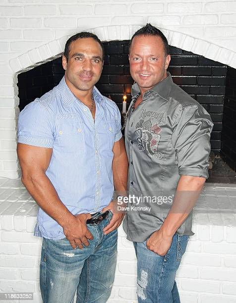 Joe Gorga and Frank Sorrentino visit Park East on July 8 2011 in Hazlet New Jersey