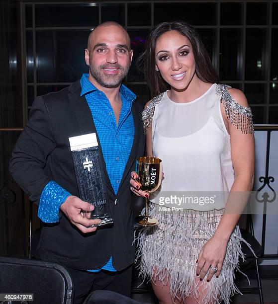 Joe Gorga and Melissa Gorga attend the 4th annual New Year's Eve Extravaganza hosted by Melissa Gorga at AMC Loews 34th Street 14 theater on December...