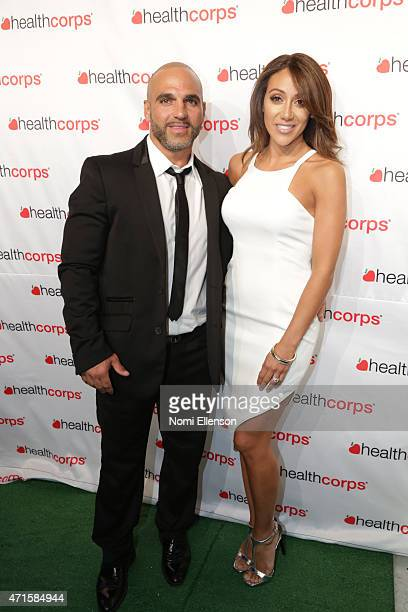 Joe Gorga and Melissa Gorga attend the 9th Annual HealthCorps' Gala at Cipriani Wall Street on April 29 2015 in New York City