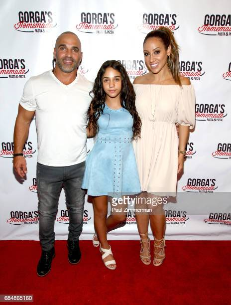 Joe Gorga Antonia Gorga and Melissa Gorga attend the Gorga's Homemade Pasta Pizza Grand Opening on May 18 2017 in East Hanover New Jersey