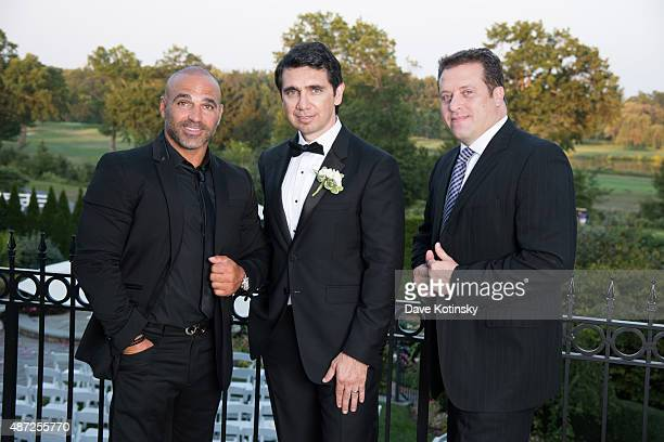Joe Gorga Dr Ramtin Kassir MD and Chris Laurita attend the wedding of plastic surgeon and television personality Dr Ramtin Kassir MD to Dr Sheila...