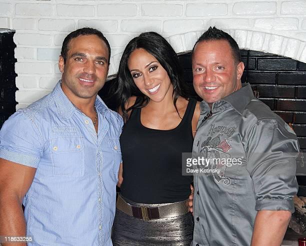 Joe Gorga Melissa Gorga and Frank Sorrentino visit Park East on July 8 2011 in Hazlet New Jersey