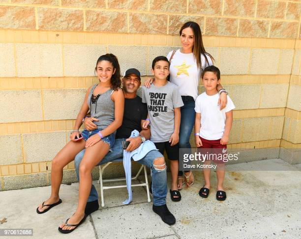 Joe Gorga Melissa Gorga Joey Gorga Jr Antonia Gorga and Gino Gorga pose at the NPC South Jersey Bodybuilding Championships on June 9 2018 in Medford...