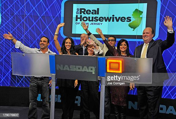 Joe Gorga Real Housewives of New Jersey cast member Melissa Gorga Albert Manzo cast member Caroline Manzo Rich Wakile and cast member Kathy Wakile...