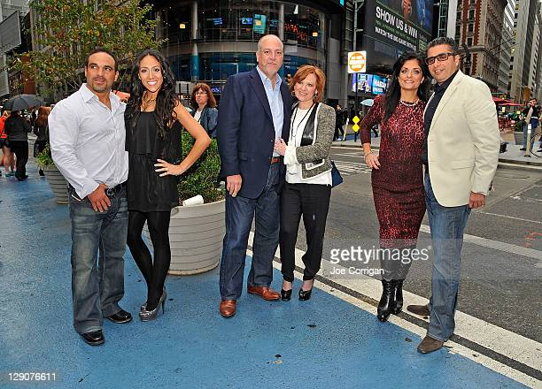 Joe Gorga Real housewives of New Jersey cast member Melissa Gorga Albert Manzo cast member's Caroline Manzo and Kathy Wakile and Rich Wakile outside...