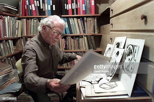 Joe Grant an artist and animator for Disney is one of the oldest in his profession Here he looks through some of his character drawings from the...