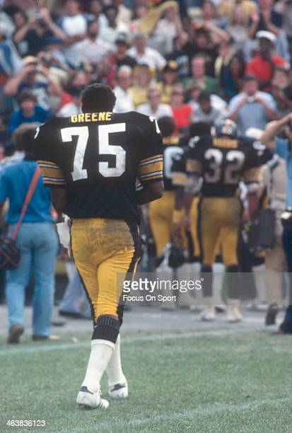 Joe Green of the Pittsburgh Steelers walks off the field after an NFL football game against the Baltimore Colts October 30 1977 at Memorial Stadium...