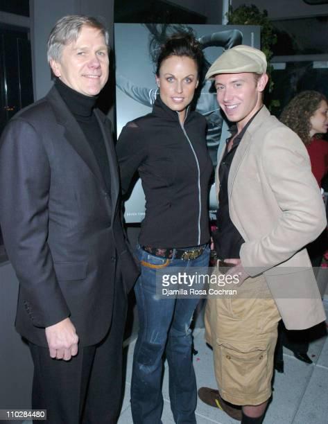 Joe Gromek, Amanda Beard and Tyler Duckworth during W Magazine Celebrates the Launch of the 2006 Speedo Ad Campaign at Gansevoort Hotel in New York,...