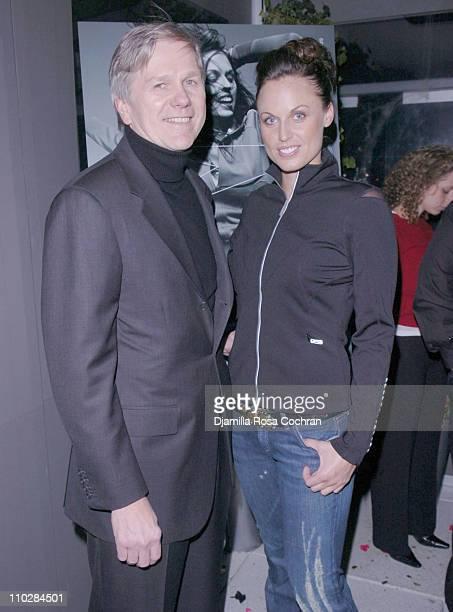 Joe Gromek and Amanda Beard during W Magazine Celebrates the Launch of the 2006 Speedo Ad Campaign at Gansevoort Hotel in New York, New York.