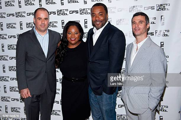 Joe Hall Sherri Shepard Lee Daniels and Evan Shapiro attend the Ghetto Film School Annual Spring Benefit at The Park Cafe in New York City