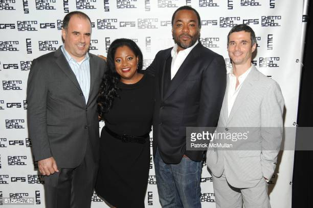 Joe Hall Sherri Shepherd Lee Daniels and Evan Shapiro attend The GHETTO FILM SCHOOL 10th Annual Spring Benefit at The Park Cafe on June 14 2010 in...