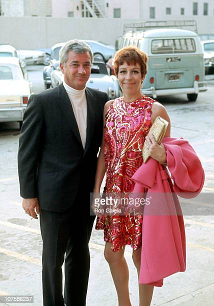 Joe Hamilton and Carol Burnett during Carol Burnett Sighting Outside Merv Griffin Studios January 1 1968 at Merv Griffin Studios in Hollywood...