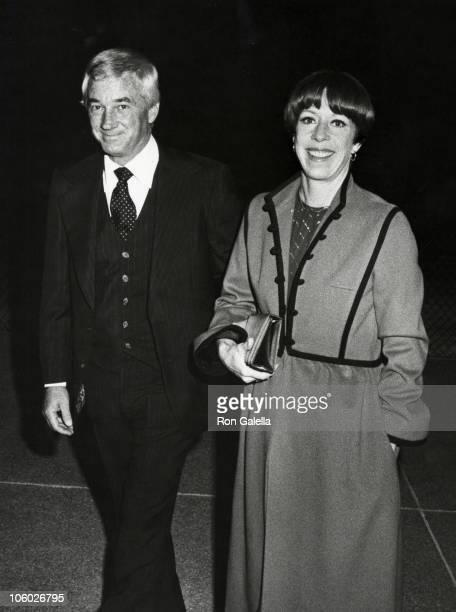 "Joe Hamilton and Carol Burnett during Party for the 10th Anniversary of ""The Carol Burnett Show"" at Windows on the World in New York, New York,..."