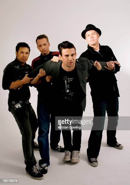 Joe Hansen Kristian Hopes Phil Jamieson and Pat Davern of Grinspoon pose during a portrait session on May 31 2007 in Sydney Australia