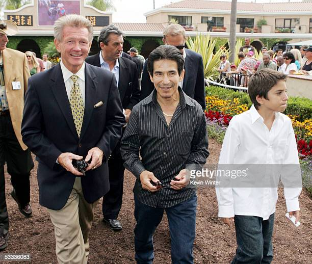 Joe Harper Director President and GM of the Del Mar Thoroughbred Club former jockey Laffit Pincay and his son JeanLaffit Pincay appear at the...