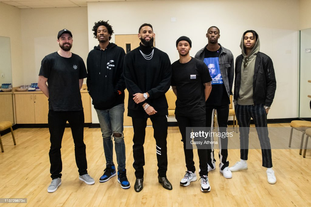 CA: Allen Crabbe Of The Brooklyn Nets Hosts Court Naming Ceremony