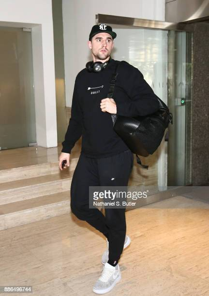Joe Harris of the Brooklyn Nets arrives as part of the NBA Mexico Games 2017 on December 5 2017 at the Hyatt Regency Hotel in Mexico City Mexico NOTE...