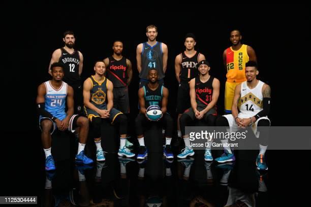 Joe Harris of the Brooklyn Nets Damian Lillard of the Portland Trailblazers Dirk Nowitzki of the Dallas Mavericks Devin Booker of the Phoenix Suns...