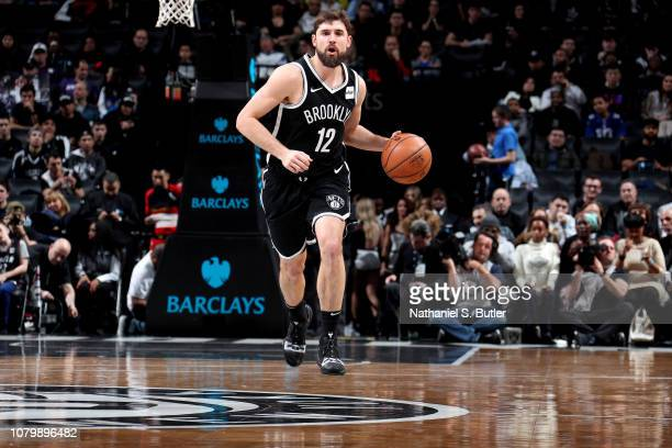 Joe Harris of the Brooklyn Nets handles the ball against the Atlanta Hawks on January 9 2019 at Barclays Center in New York City New York NOTE TO...