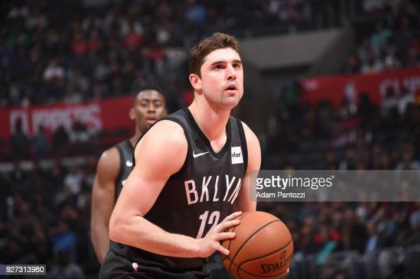 Joe Harris of the Brooklyn Nets handles the ball against the LA Clippers on March 4 2018 at STAPLES Center in Los Angeles California NOTE TO USER...
