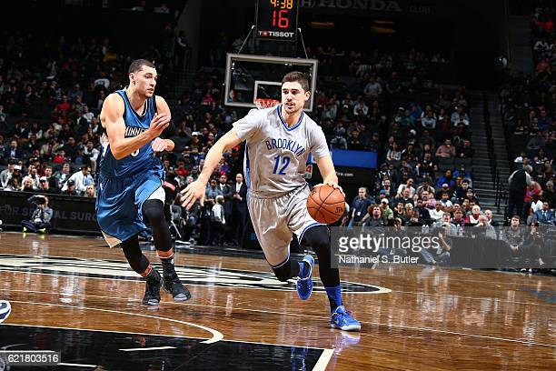 Joe Harris of the Brooklyn Nets handles the ball against the Minnesota Timberwolves on November 8 2016 at Barclays Center in Brooklyn New York NOTE...