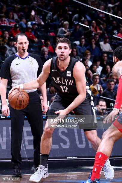 Joe Harris of the Brooklyn Nets handles the ball against the Washington Wizards on December 22 2017 at Barclays Center in Brooklyn New York NOTE TO...