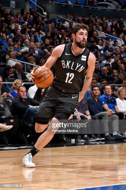 Joe Harris of the Brooklyn Nets handles the ball during the game against the Orlando Magic on February 2 2019 at Amway Center in Orlando Florida NOTE...