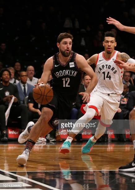 Joe Harris of the Brooklyn Nets in action against the Toronto Raptors at Barclays Center on December 7 2018 in the Brooklyn borough of New York City...