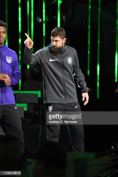 Joe Harris of the Brooklyn Nets is introduced before the 2019 Mtn Dew 3Point Contest as part of the State Farm AllStar Saturday Night on February 16...