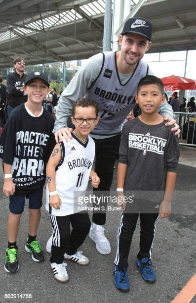 Joe Harris of the Brooklyn Nets participates in the Practice in the Park on October 14 2017 at Brooklyn Bridge Park in Brooklyn New York NOTE TO USER...