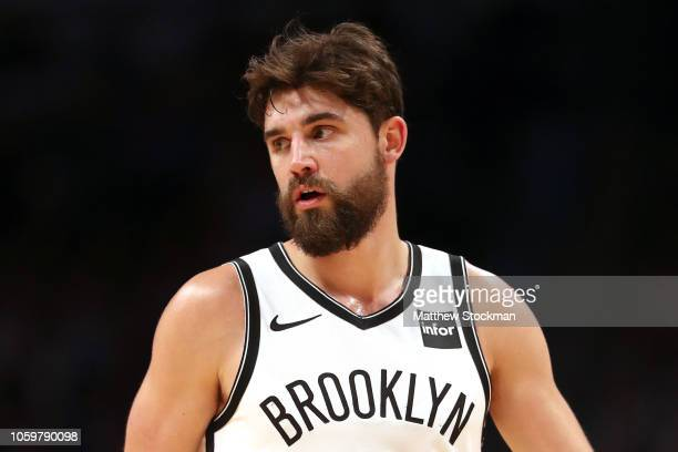 Joe Harris of the Brooklyn Nets plays the Denver Nuggets at the Pepsi Center on November 9 2018 in Denver Colorado NOTE TO USER User expressly...