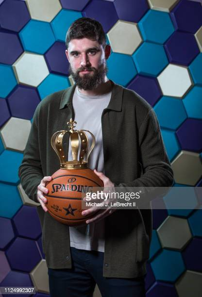 Joe Harris of the Brooklyn Nets poses for portraits during the NBAE Circuit as part of 2019 NBA AllStar Weekend on February 14 2019 at the Sheraton...
